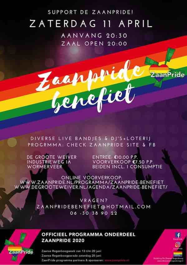 POSTER Zaanpridebenefiet copy