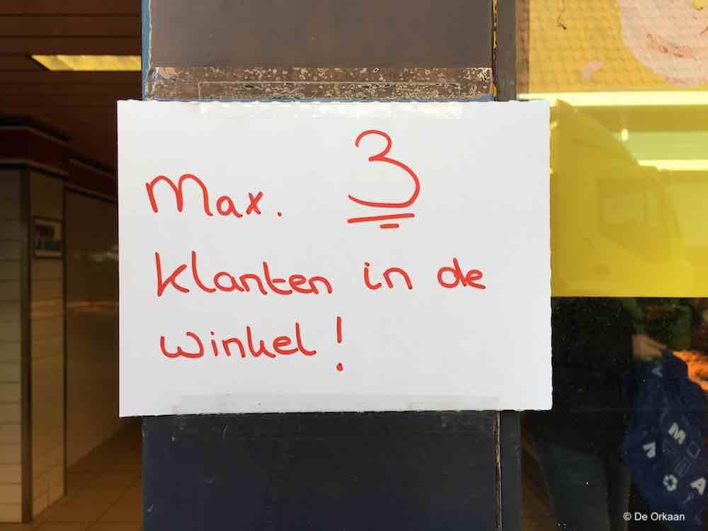 max 3 klanten maart 2020 orkaan
