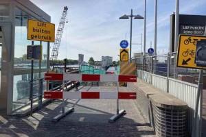 nietzovlotbrug dicht orkaan mei 2020