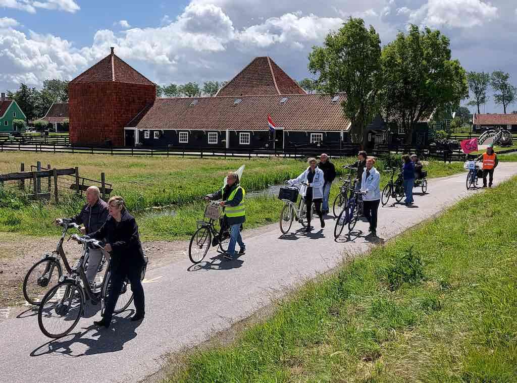 fietsdemonstratie zaanse schans 6 juni 2020 wim de jong